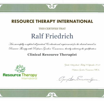 Ausbildung zum Resource Therapy Therapeuten