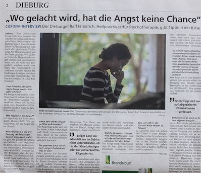Corona-Interview im Dieburger Anzeiger
